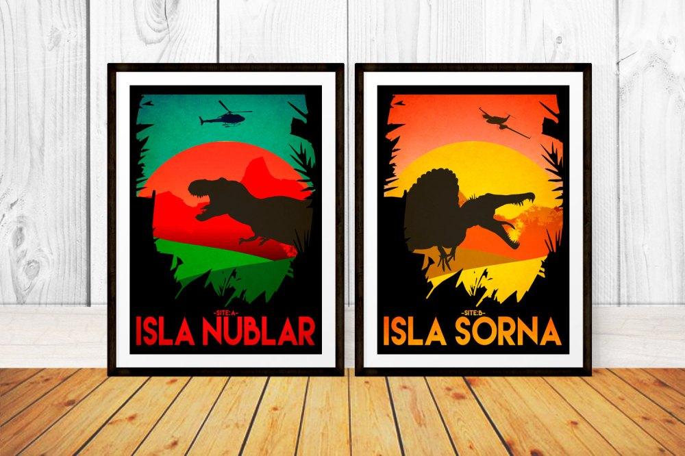Dinosaur Décor Ideas | Jurassic Park Travel Posters