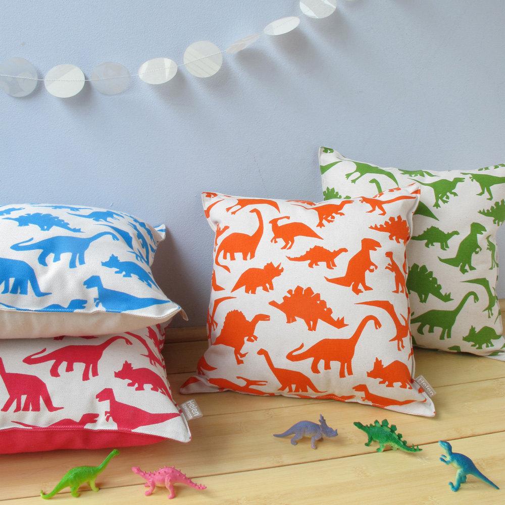 Dinosaur Décor Ideas | Dinosaur Print Cushions