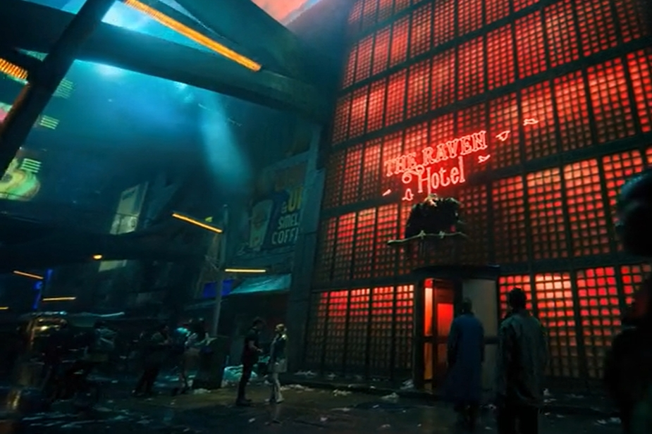 Fictional Hotels | The Raven (Altered Carbon)