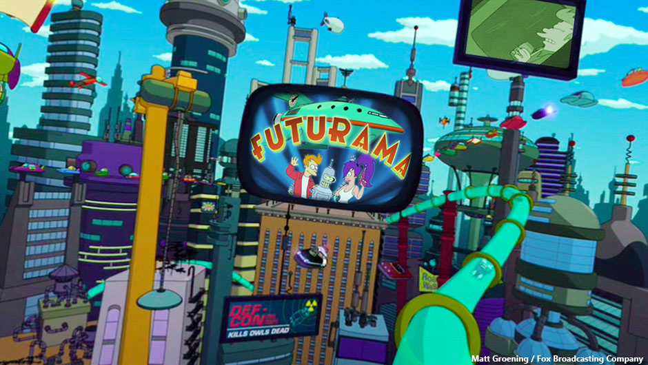 Five Fictional Cities I'd Love To Visit | New New York (Futurama)