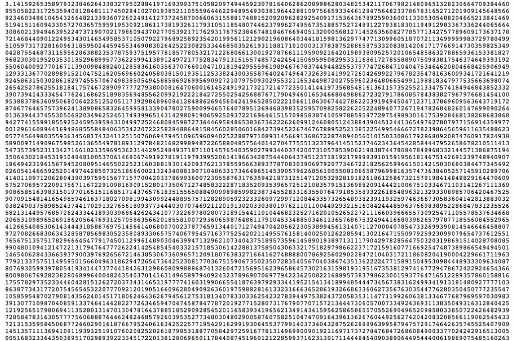 121 Trillion Digits of Pi And were out of disk space By Alexander J Yee amp Shigeru Kondo Last updated September 22 2016