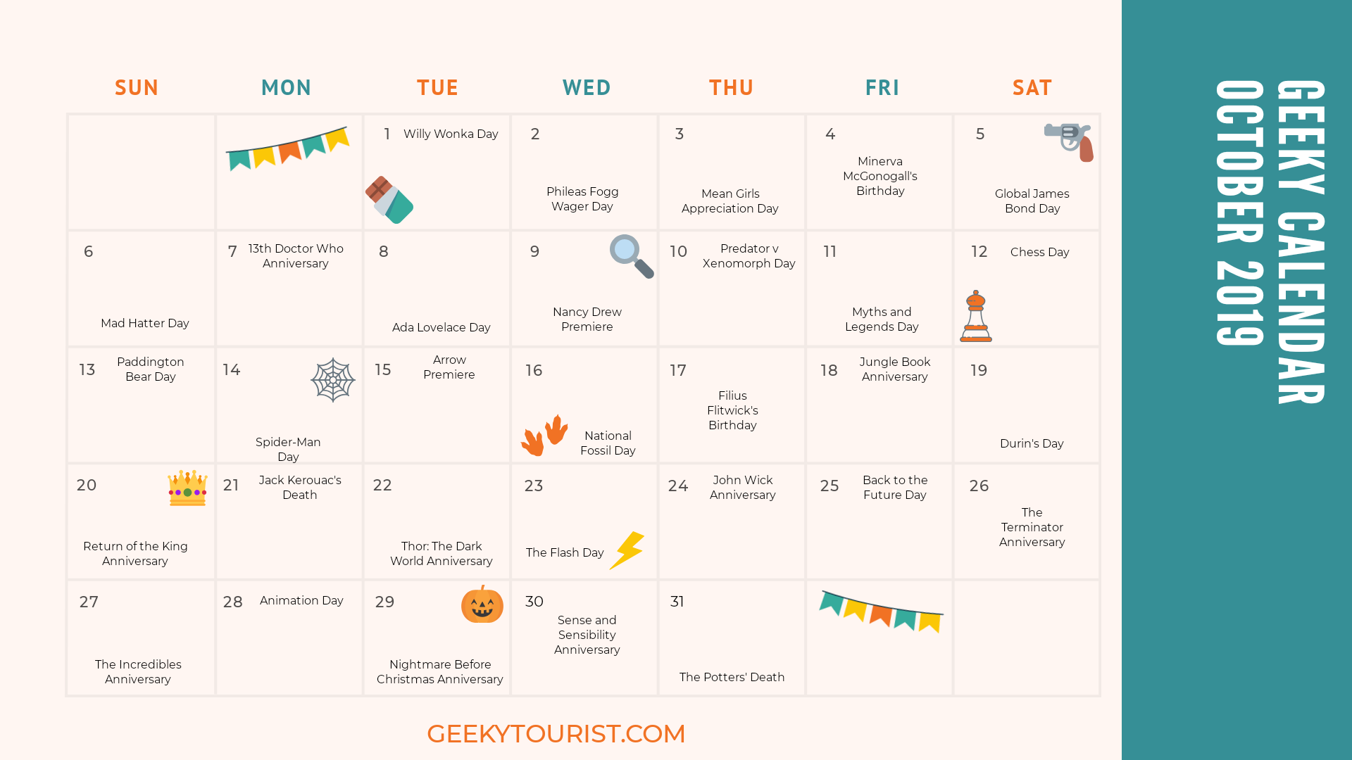 Geeky Things to Celebrate in October
