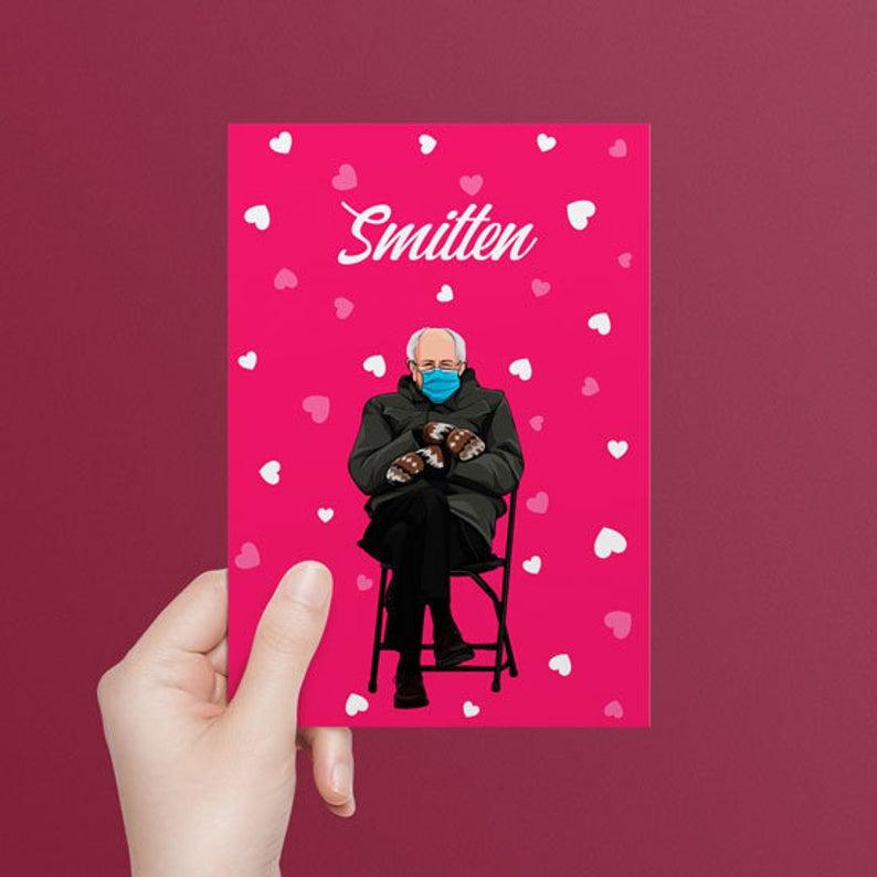 Geeky Valentines Day Cards | Bernie Sanders