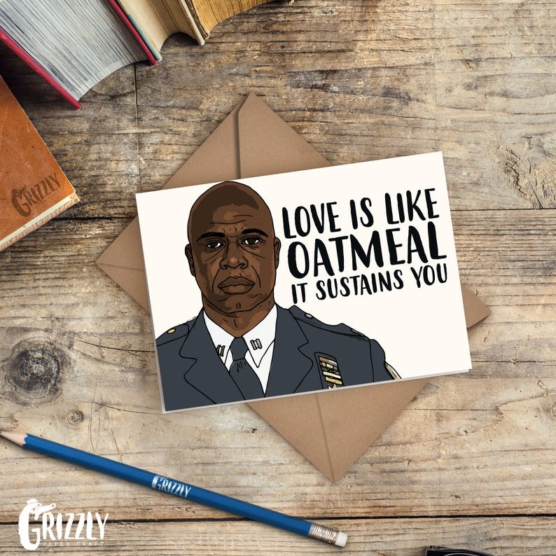 Geeky Valentines Day Cards | Brooklyn Nine Nine - Captain Holt