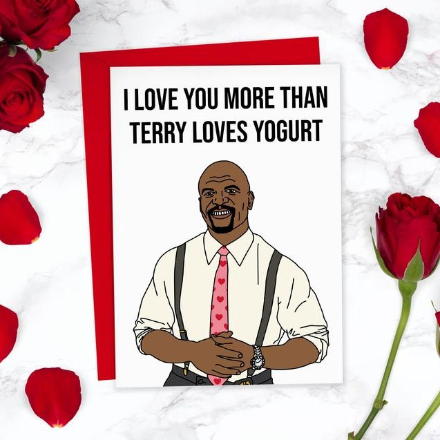 Geeky Valentines Day Cards | Brooklyn Nine Nine - Terry