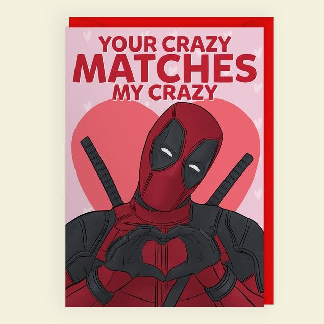 Geeky Valentines Day Cards | Deadpool