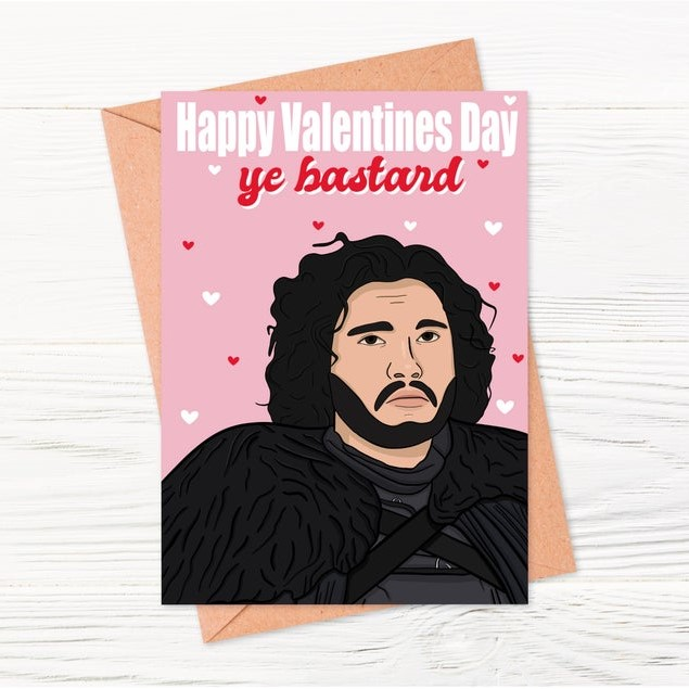 Geeky Valentines Day Cards | Game of Thrones - Jon Snow