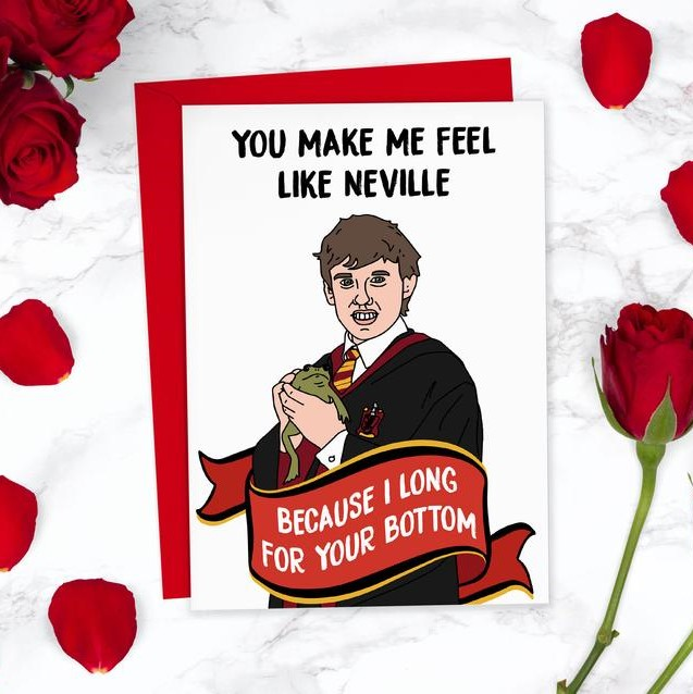 Geeky Valentines Day Cards | Harry Potter - Neville Longbottom