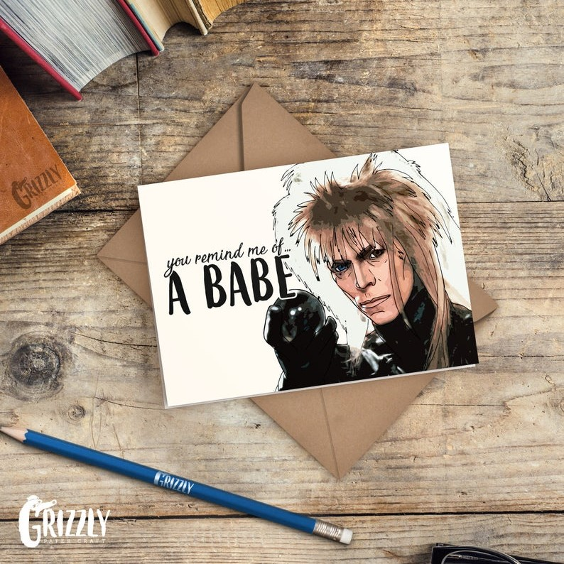 Geeky Valentines Day Cards | Labyrinth - Jareth