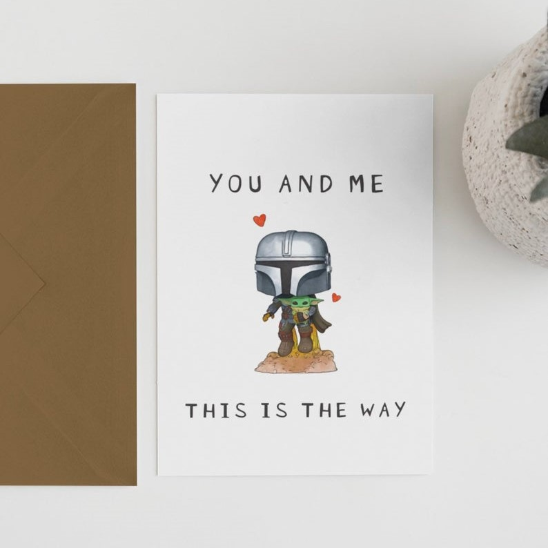 Geeky Valentines Day Cards | The Mandalorian - Baby Yoda