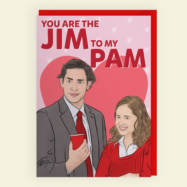 Geeky Valentines Day Cards | The Office - Jim and Pam