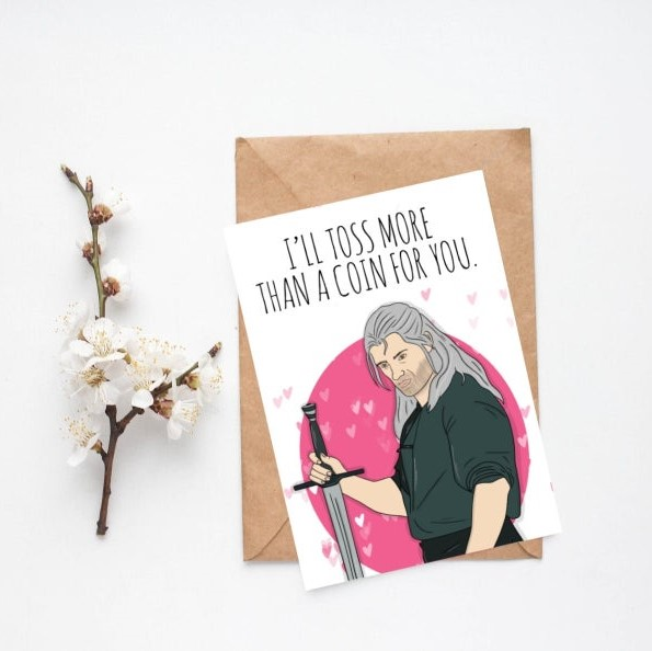 Geeky Valentines Day Cards | The Witcher